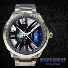 Hot BMW IM M Power M3 M5 Rim Stainless Steel Accesories Logo Sport Metal Watch