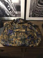 Monoprix French Folable Shopping Bag - Nylon Tote - Foliage - New