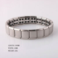 Unisex Titanium Steel Therapy Energy Magnetic Bracelet Silver Health Care Gifts