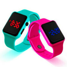 New Electronic Digital Waterproof LED Display Watch For Boy Girl Kids Gifts