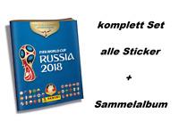 Panini WM 2018 Russia World Cup komplett Set alle 682 Sticker + Hardcover