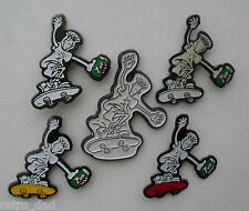 Comic FIDO DIDO Skateboard 7UP 1985 Vintage LOT 5 Metal PIN BADGES Pins Badge