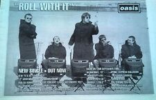 OASIS Roll With It 1995  UK Press ADVERT 12x8""