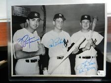 New York Yankees Pepitone, Blomberg and Tresh Signed Autographed 7x9 Wire Photo