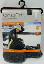 Climate Right by Cuddl Duds Leggings Cold Weather S M L XL 2XL Grey Black  NWT