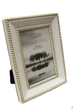 """Kenro Piazza White Beaded Antique Style Frame 6""""x 4"""""""