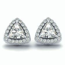 White Gold VS1 Excellent Cut Fine Diamond Earrings
