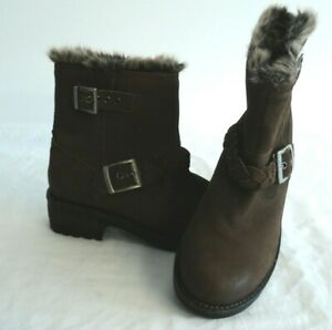 SUPERDRY Ladies' Brown Ankle Boots Size 5 (#F4)