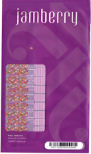 Jamberry Junior Nail Wraps A476 Orchid Skinny & Garden 1 Full Sheet