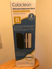 Cabiclean Hepa Carbon Replacement Filter B , 2 Pack , New