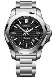 New Victorinox Swiss Army INOX Automatic ST Steel Black Dial Men's Watch 241837