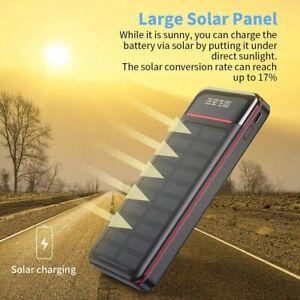 Wireless Solar Powerbank 26800mAh Wasserdichtes USB C Qi Power Bank DE