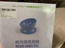 New listing SuperDesign Inclined Ceramic Cat Food Bowl- Stress Free Feeding Less Regurgitate