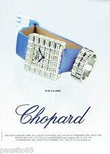 PUBLICITE ADVERTISING 116  2002  la montre Ice Cube par Chopard