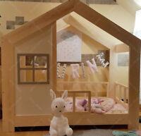Lit cabane, Lit pour enfants,lit d'enfant,lit cabane avec barrière & Ttiroir