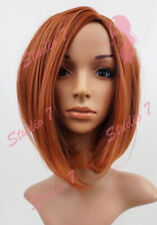 W91 Light Auburn Ginger Mix Mid Length Bob Ladies Wig Natural Look studio7-uk