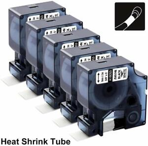 5PK 18053 Heat Shrink Tube Work with Dymo Rhino 5200 Industrial Label Maker 9mm