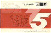 CHEVROLET 1975 OWNERS MANUAL CHEVELLE OWNER'S BOOK