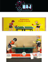 Vintage Tin Toy -Playing Ping-Pong -1960's Recreation (Aussie Seller)