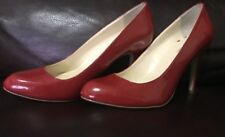 MAX STUDIO Lipstick Red Patent Leather Classic Pumps Heels Shoes Size SZ 7 M