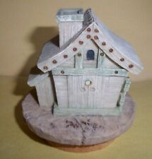 "Candle Topper from home interiors - Pale green Resin Birdhouse Topper - 3"" Tall"