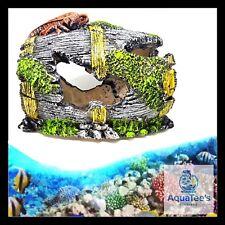 AQUARIUM FISH TANK BARREL DECORATION 12CM ORNAMENT AQUA MARINE FRESH WATER