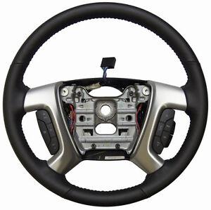 2013-2016 GMC Acadia Enclave Steering Wheel Ebony Leather New 22818080 23330587