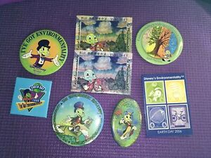 Jiminy Cricket Earth Day Assorted Years Button Pin -Disney -Good-Fastship