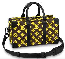 NEW RARE Louis Vuitton Trunk Speedy Yellow Monogram Tuffetage bag Virgil Abloh