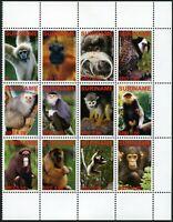 Surinam 2006 Affen Apen Monkeys Schimpanse Gibbon 2077-2088 Postfrisch MNH