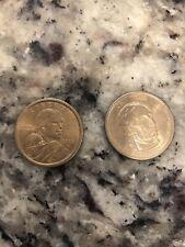 Us Dollar Coins, Sacajawea Native American Dollar 2000, And John Tyler Dollar