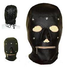 Fetish Bondage Gimp Hood Sensory Deprivation Hood Mask Faux Leather smab19