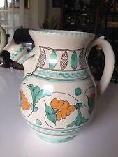 Vintage Cecconi Orvieto Dipinto Amano Pottery Pitcher