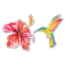 Hibiscus And Hummingbird Sticker Decal Stickers Pet Art Laptop
