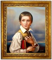 Porträt Felix Schadow Ölbild, Portrait Gemälde Ölgemälde HANDGEMALT F: 50x60cm
