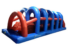 60x25x20 Commercial Inflatable Water Slide Wipeout Obstacle Course Bounce House