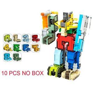 26 letters A-Z Alphabet Animal Dinosaur Transformer Robot Action Figures Bricks
