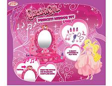 New Kids Children's Glitter Girl Little Princess Mirror Set Gift Toy Light Music