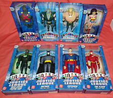 """8 NEW = 2003 2004 & 2005 = JUSTICE LEAGUE ACTION FIGURES DC COMICS 10"""" MATTEL"""