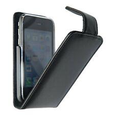 ETUI HOUSSE A RABAT iPHONE 3G 3GS NOIR BLACK ECO-CUIR (PU)