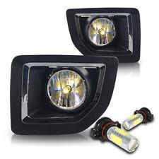 2015-2016 GMC Sierra 2500 Fog Light Bumper Lamp w/Wiring Kit & COB Bulbs - Clear