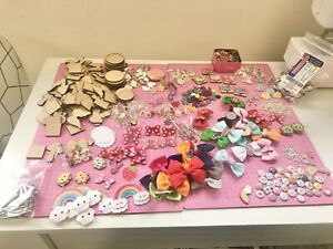 Huge JOB LOT Craft Supplies Overstock Clearance Jewellery Hair Accessories
