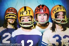 "RED HOT CHILI PEPPERS ""BAND WEARING FOOTBALL HELMETS"" POSTER FROM ASIA"
