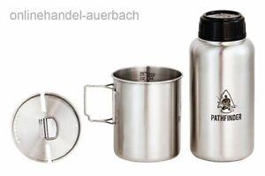 PATHFINDER Edelstahl Bottle & Nesting Cup Set Feldflasche  Outdoor Survival