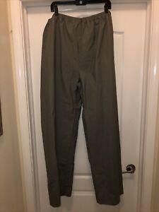 PVC water pants Columbia 2XL mens RM0120 grey green elastic snap weather