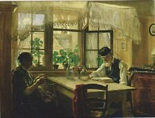 "+PC-Postcard-""Man Reads Scripture/Couple On Breakfast Table- ...SUNDAY-(B463)"