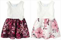 NWT The Childrens Place Girls Sleeveless Lace Floral Dress 2T 3T 4T 5T