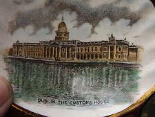 VINTAGE GRAY'S CERAMICA LUSTRO piatto RAFFIGURANTE Dublino dogana completamente timbrato