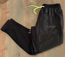 Nike Dri-FIT Phenom Elite Track Pants Running Bottoms Joggers Black Men's Size M