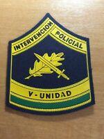 SPAIN PATCH POLICE POLICIA INTERVENCION V UNIDAD  - ORIGINAL!